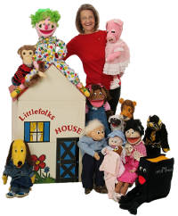Ginger and puppets